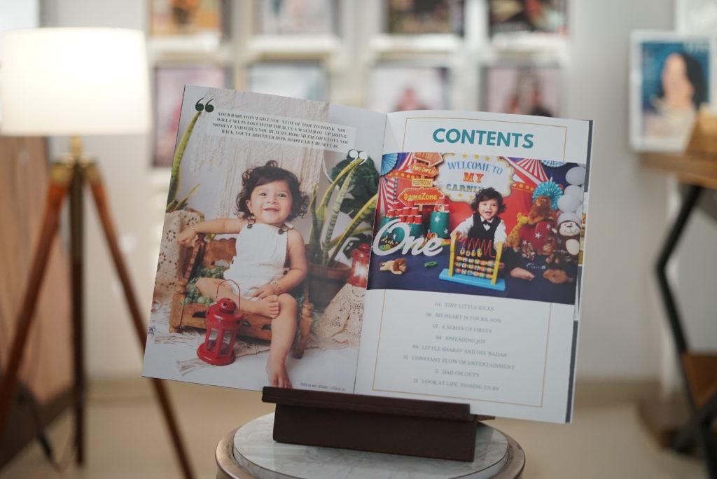 magazine image of a baby