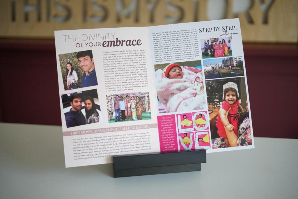 magazine Image showing milestones customised