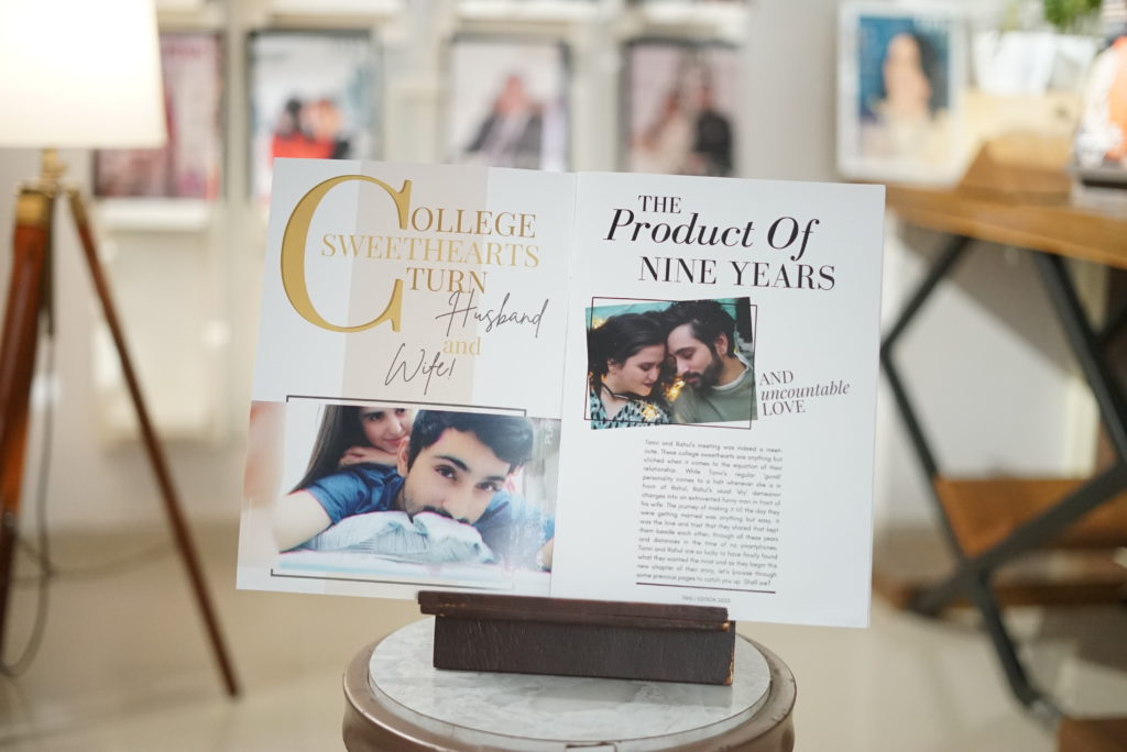 a love story stored in a personalised magazine