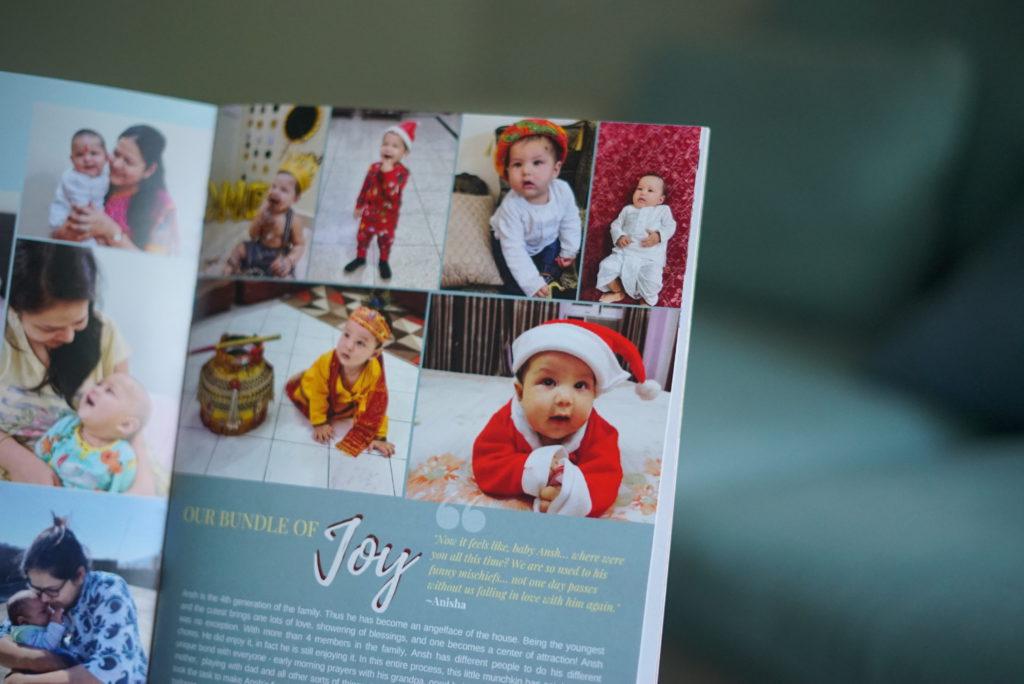 Customised Magazine Image of baby